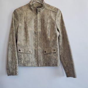 Leather snakeskin leather jacket Alfani M womens